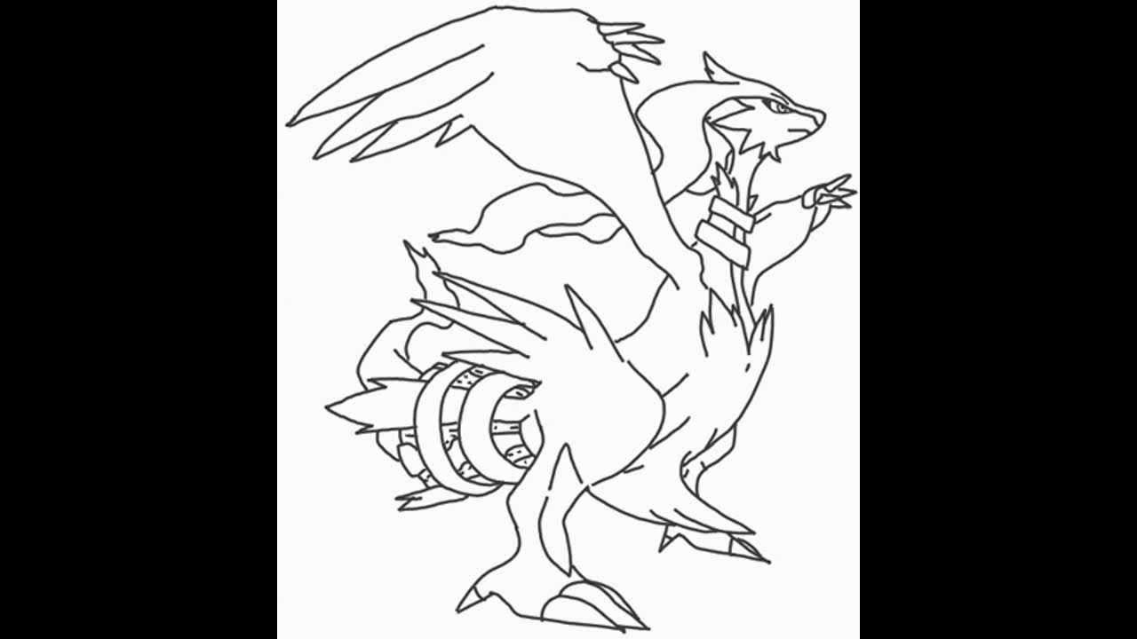 How to draw reshiram from pokemon youtube ccuart Images
