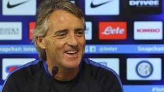 Live! Conferenza stampa Mancini prima di Inter-Roma 30.10.2015 15:00CET