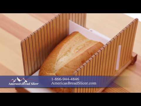 America's Bread Slicer - Perfect For Homemade Bread Or Unsliced Store Bread