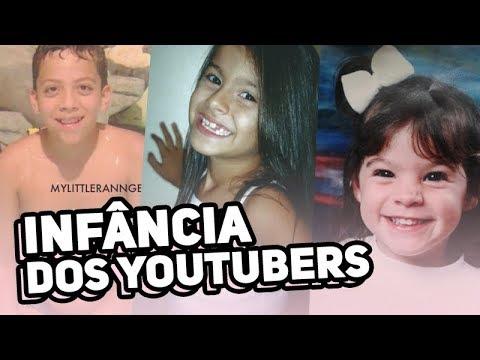 YOUTUBERS quando eram crianças!!! 😱  | Nah Cardoso