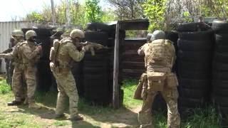 Тренировка украинского спецназа антитеррора в снаряжении Хофнер