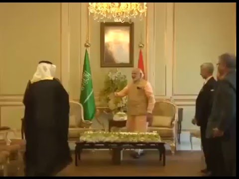 PM Narandra Modi meets Saudi Arabia's Health Minister