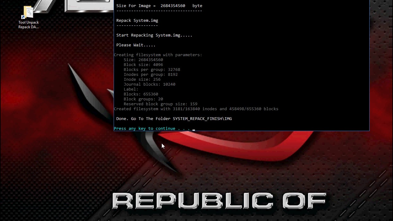 Tool Unpack Repack system new dat system img For Windows v3 EP 2
