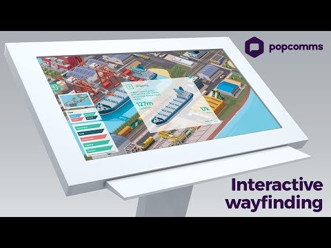 Exploring an interactive, wayfinding map on a touchscreen experience