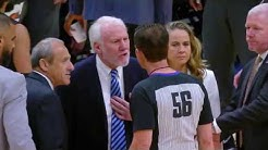 Gregg Popovich Ejected 63 Seconds Into Game   SPURS vs. NUGGETS   4.3.2019