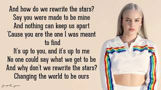Rewrite the Stars - Anne-Marie & James Arthur (Lyrics) Video