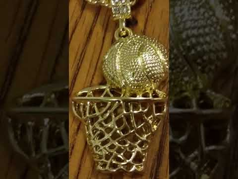 Unboxing of. Basketball chain golden