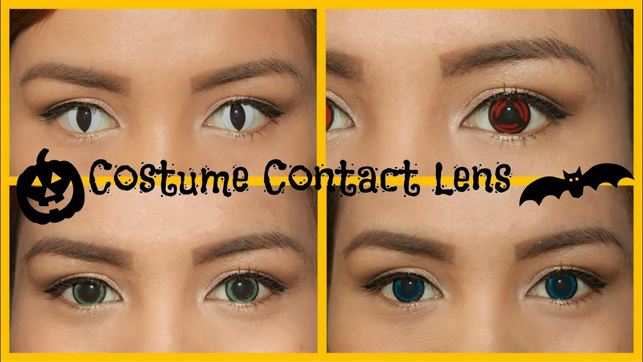 halloween contact lens guide ✝✝ (costume lens) - youtube