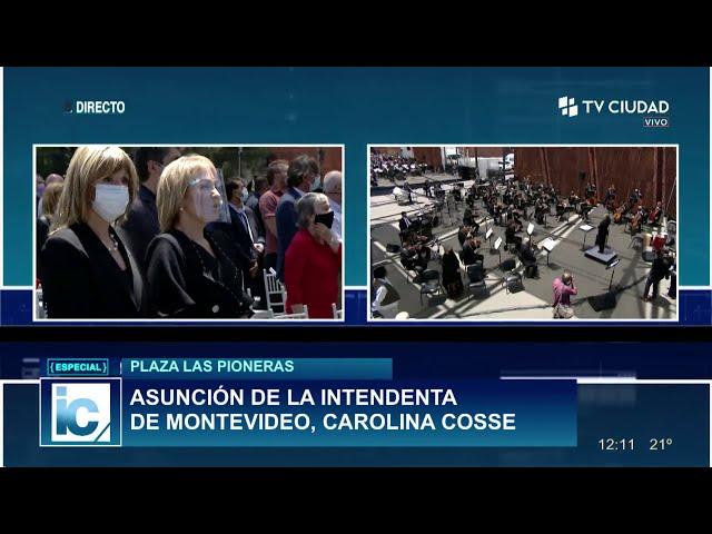 Asunción de Intendenta de Montevideo - Himno Nacional