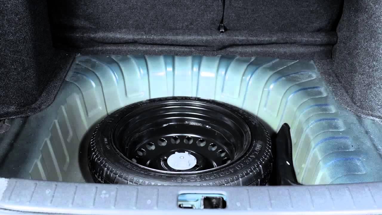 2014 NISSAN Versa Sedan Spare Tire and Tools - YouTube
