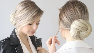 How to: EASY Knot Bun / Chignon