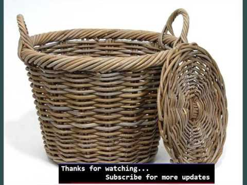 Woven Storage Basket Ideas | Wicker Basket With Lid And Handle