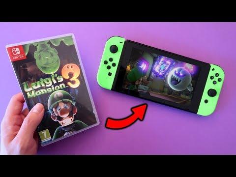 aquí tienes el LUIGI'S MANSION 3 de Nintendo SWITCH 😄 Unboxing y GAMEPLAY español