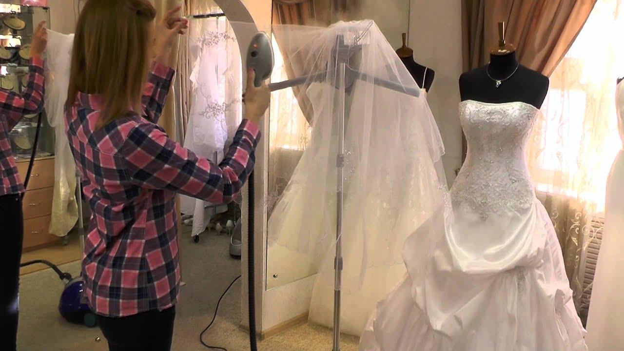 Отпарить свадебное платье утюгом