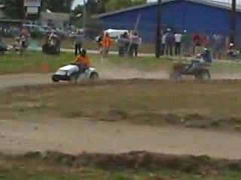 Super Modified Lawn mower racing