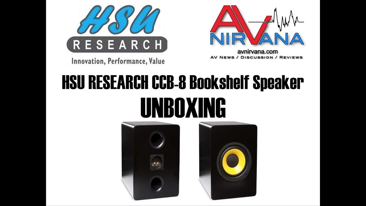 HSU Research CCB 8 Bookshelf Speaker Unboxing