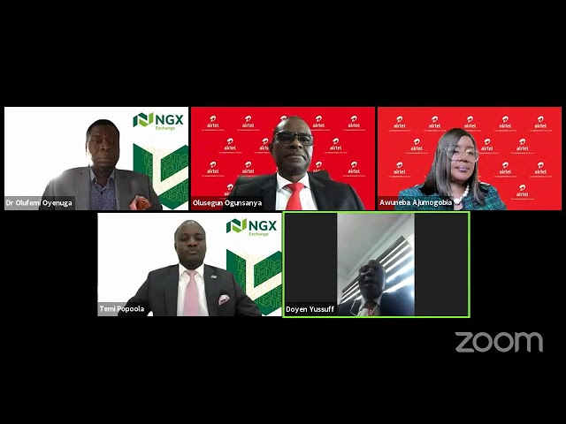 DIGITAL CLOSING GONG CEREMONY TO INTRODUCE THE GCEO OF AIRTEL AFRICA PLC