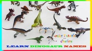 Learn Dinosaur names for Kids! Dinosaur for Kids - Lots of Toy Dinosaurs - Jurassic World Dinosaurs
