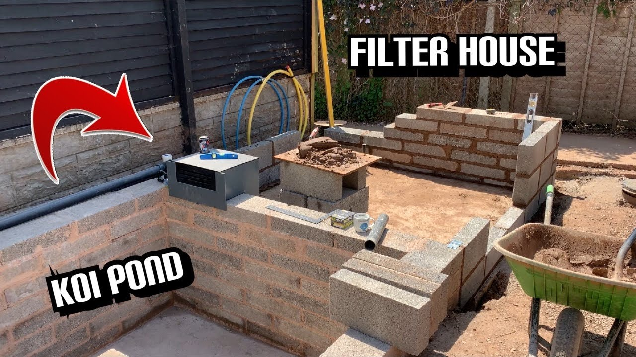 THE FILTER HOUSE IS LOOKING GOOD ***MY DREAM POND KOI POND BUILD***PART 31** ITS LOOKING MINT!!!