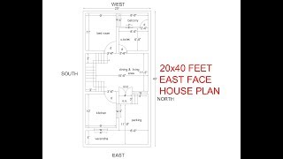House Plan For 20X40 Site South Facing on