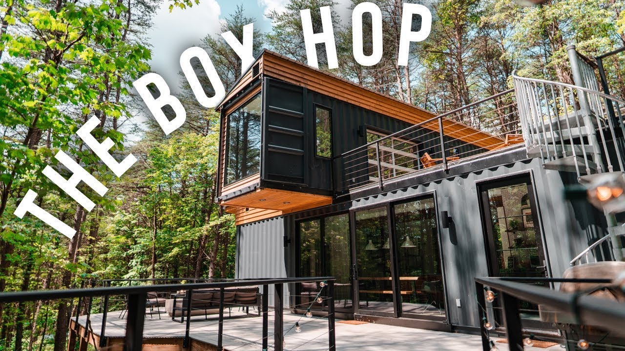The Box Hop Airbnb Tour Shipping Container Home Youtube