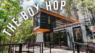 Gambar cover The Box Hop Airbnb Tour! | Shipping Container Home!