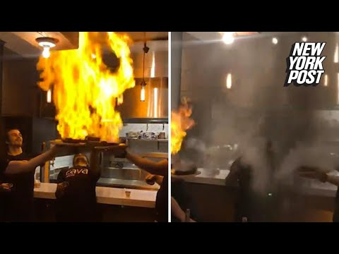 Flaming cheese dishes set off the sprinklers at restaurant | New York Post
