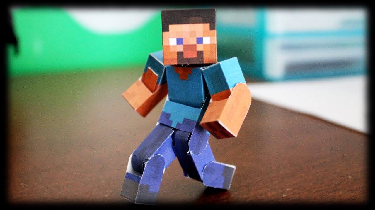 Papercraft How to make the Ultimate Bendable Steve (Minecraft Papercraft)