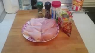 Курица с паприкой и чесноком в духовке