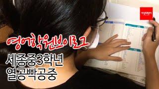 영어과외Vlog, 영어학원브이로그, 세종중학교, 영어단…