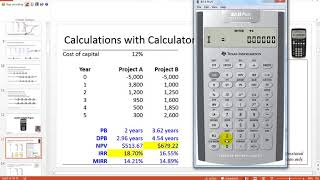 Capital Budgeting Techniques - Calculator