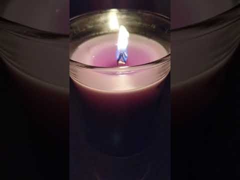 ASMR Relaxing Crackling Wood Wick Candle / No Talking