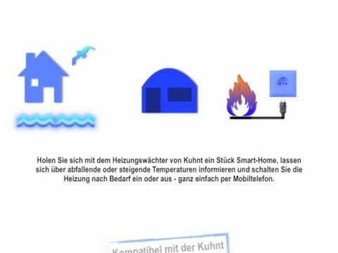 kuhnt heizungsw chter heizung steuern im ferienhaus oder anderen ge uden youtube. Black Bedroom Furniture Sets. Home Design Ideas