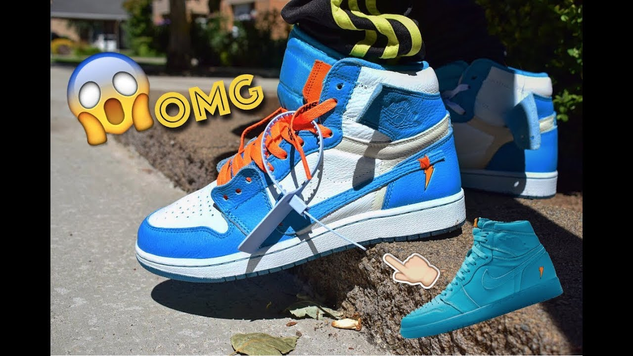 cheap for discount f8aa6 5f7d2 Off-White UNC Custom Tutorial + On-Feet (CANT BELIEVE IT'S THE SAME SHOE!)