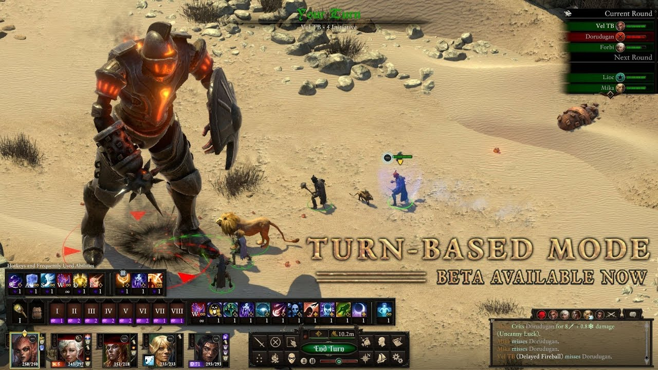 Pillars Of Eternity 2 patches in turn based combat mode | Rock Paper