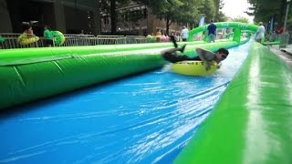 Giant slip and slide coming to a city near you