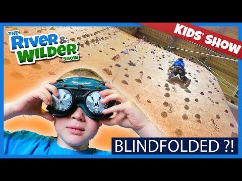 KIDS INDOOR ROCK CLIMBING BLINDFOLDED