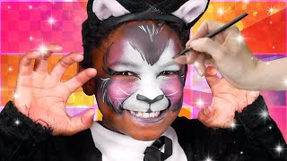 Black Cat Face Paint | Face Paint Tutorial | Funtastic Playhouse!