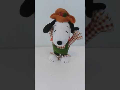Demo of Snoopy Thanksgiving Singing Plush Toy For Sale on Amazon