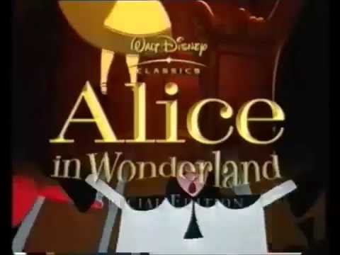 Disney's Alice In Wonderland Special Edition Dvd (VHS Capture)