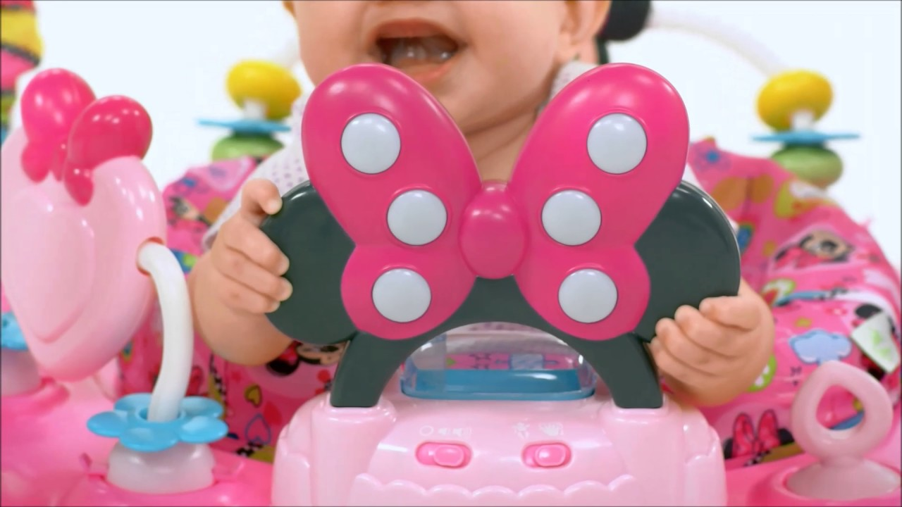 074e34f53 Smyths Toys - Disney Baby Minnie Mouse Peekaboo Activity Baby Jumper ...