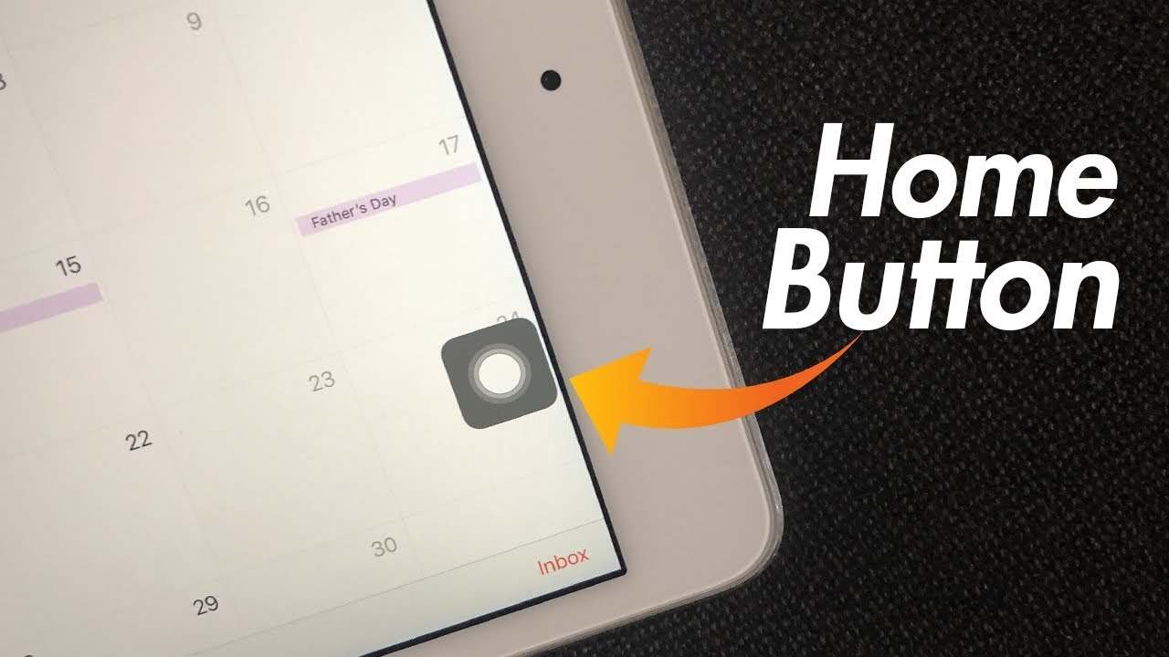 iPad Home Button on Screen - How to Get it - YouTube