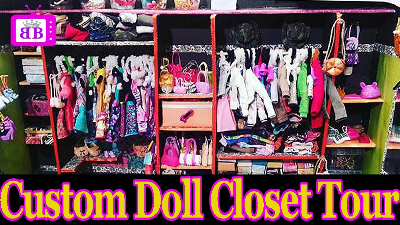Custom DOLL Walk In CLOSET ROOM TOUR DIY Homemade PLUS Easy