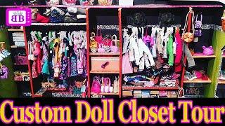 Custom DOLL Walk-In CLOSET ROOM TOUR (DIY Homemade)- PLUS easy Barbie Doll Crafts