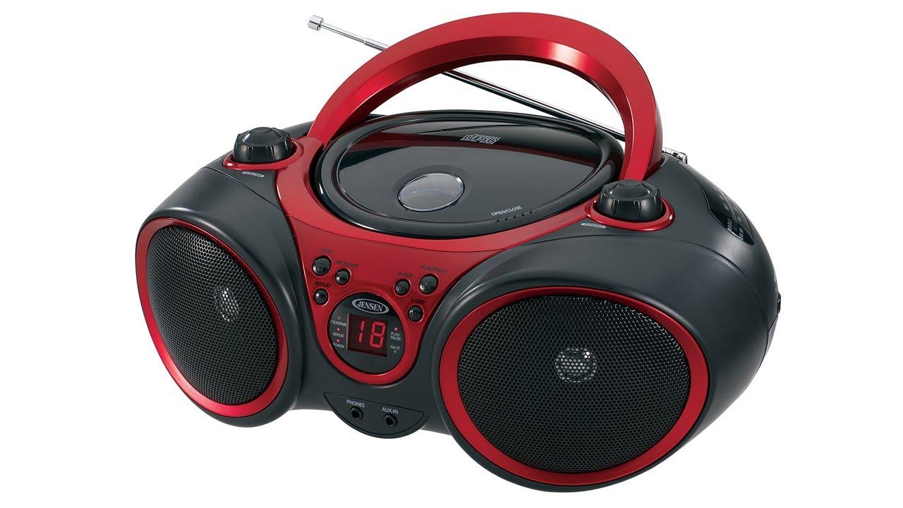 jensen cd 490 portable cd player with am fm radio youtube. Black Bedroom Furniture Sets. Home Design Ideas