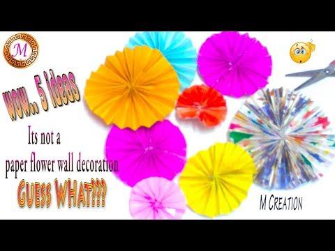5 Ideas paper fan crafting hacks/innovative ideas for paper flowers