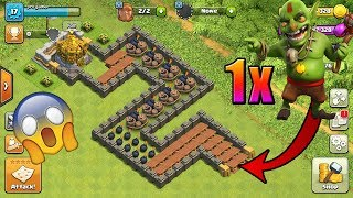 Can One Goblin Cross Road of death to reash gold??!!😱😱 | clash of clans Private server