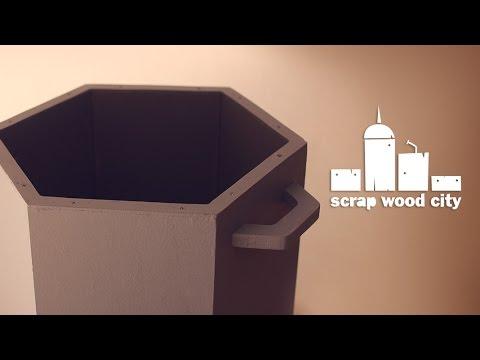DIY Hexagonal Waste Bin