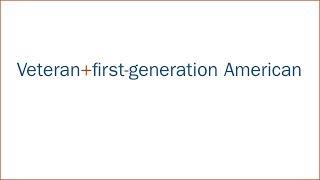 Veteran + first-generation American