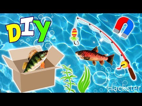 DIY Magnetic Fishing Game In A Box - How To Make An Easy Table Top Fishing Game